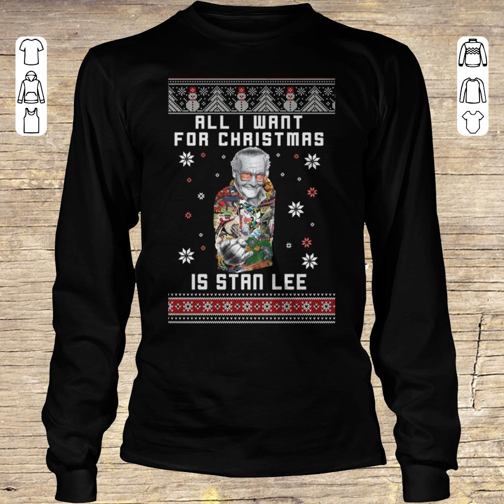 Premium All I want for christmas is Stan Lee shirt sweater Longsleeve Tee Unisex