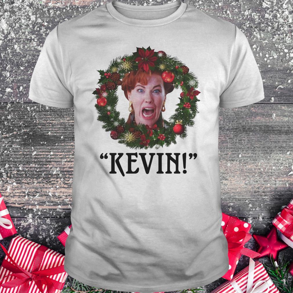 Premium Christmas wreath Home alone Kevin scream shirt Classic Guys / Unisex Tee