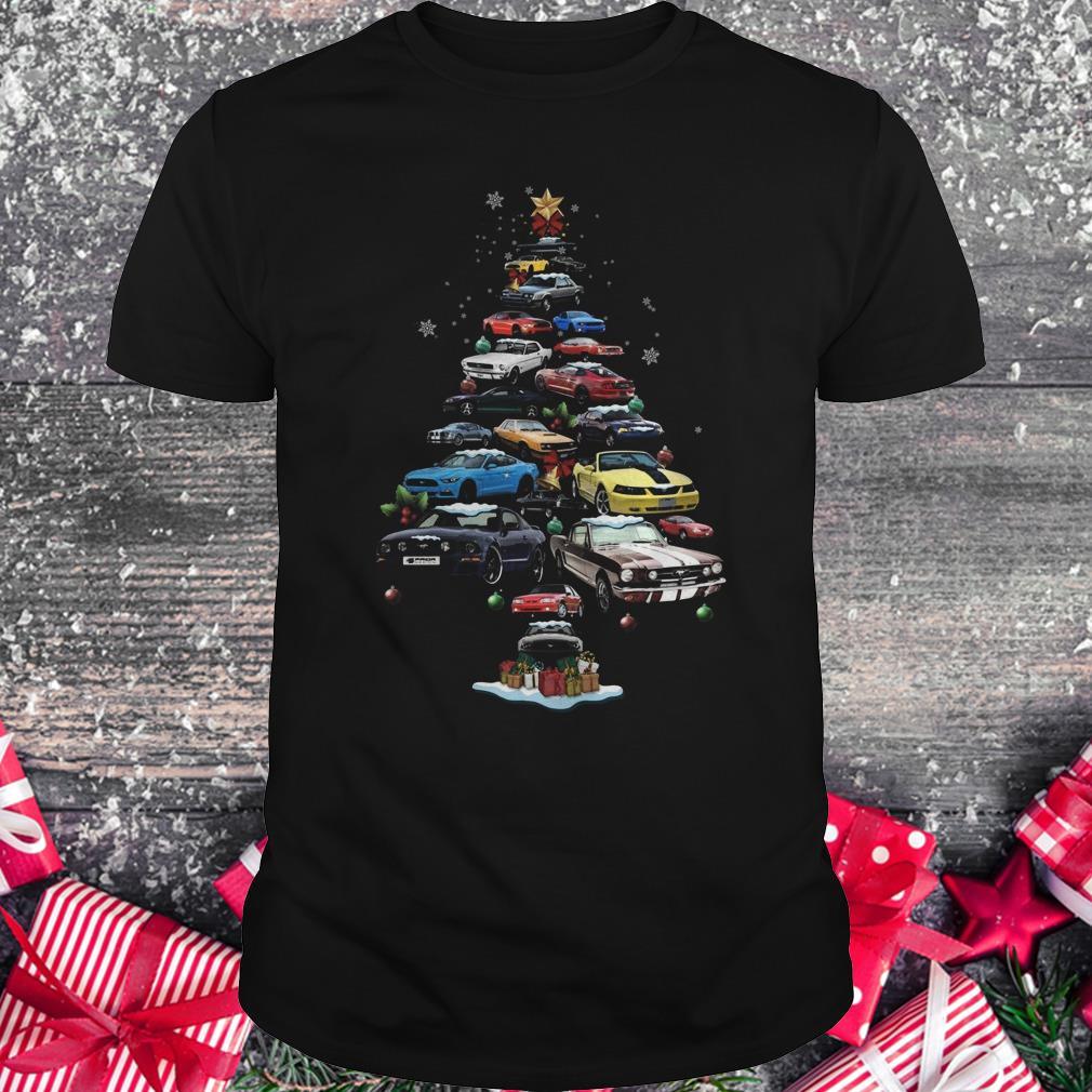 Premium Mustang Car Christmas Tree sweatshirt Classic Guys / Unisex Tee