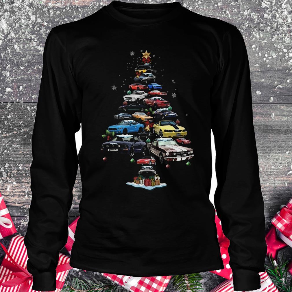 Premium Mustang Car Christmas Tree sweatshirt
