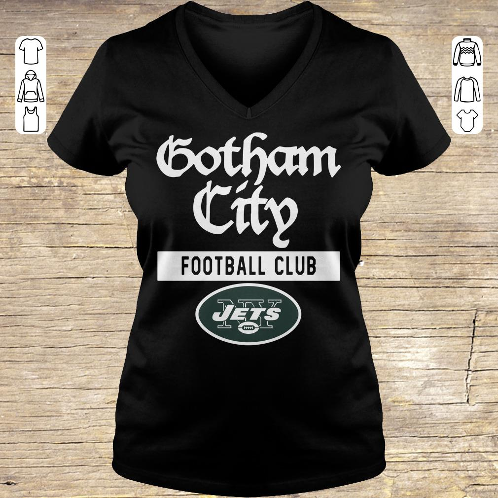 Premium New York Jets Gotham City Football club shirt Ladies V-Neck