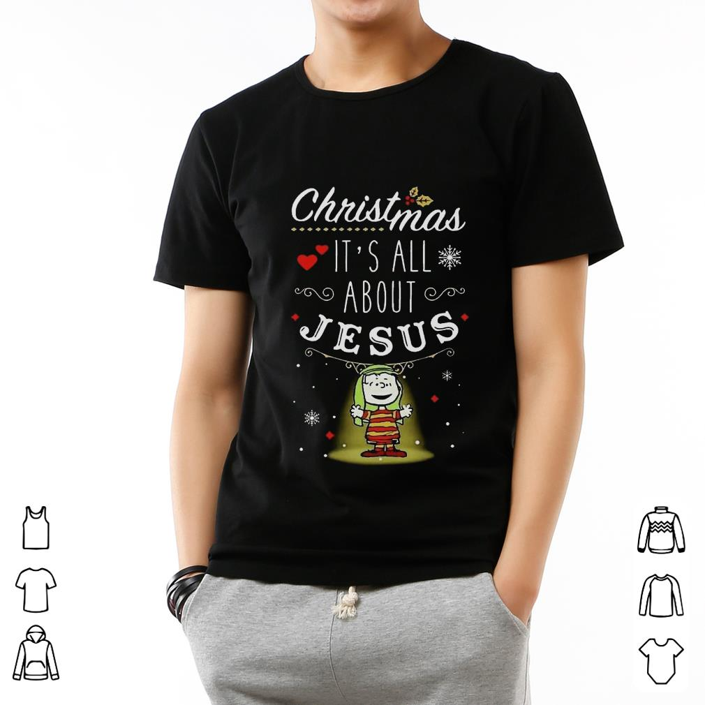 Premium Snoopy And Charlie Brown Christmas It S All About Jesus Shirt 2 1.jpg