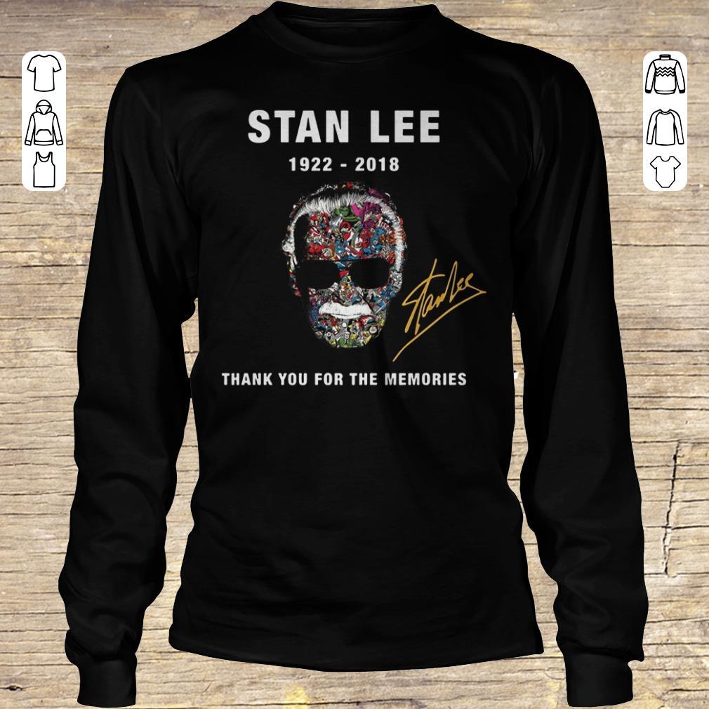 Premium Stan Lee thank you for the memories Shirt sweater Longsleeve Tee Unisex