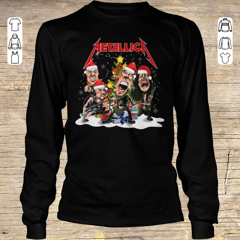 Pretty Metallica Christmas tree shirt Longsleeve Tee Unisex
