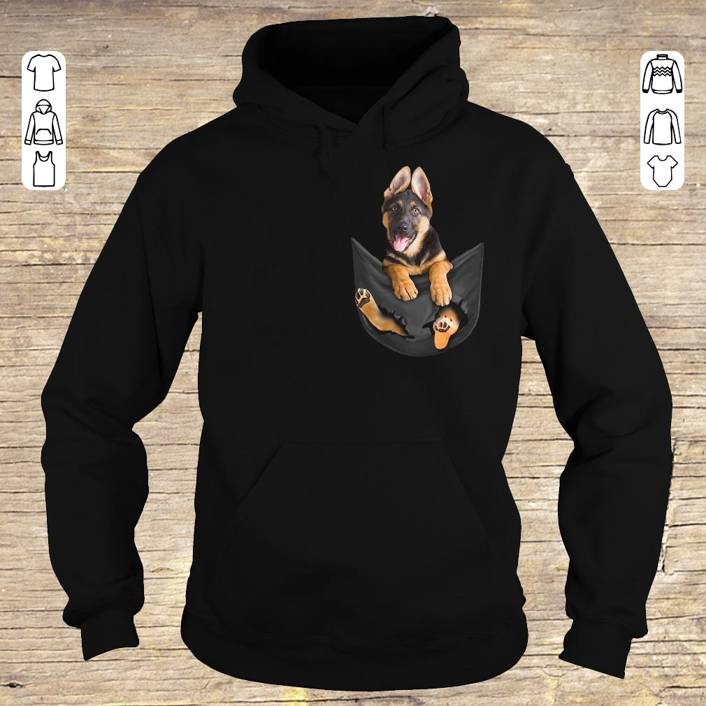 Top German Shepherd Tiny Pocket shirt longsleeve Hoodie