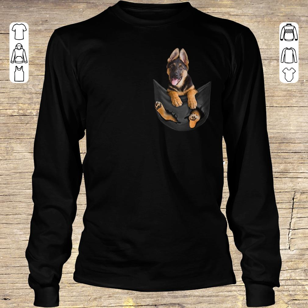 Top German Shepherd Tiny Pocket shirt longsleeve Longsleeve Tee Unisex