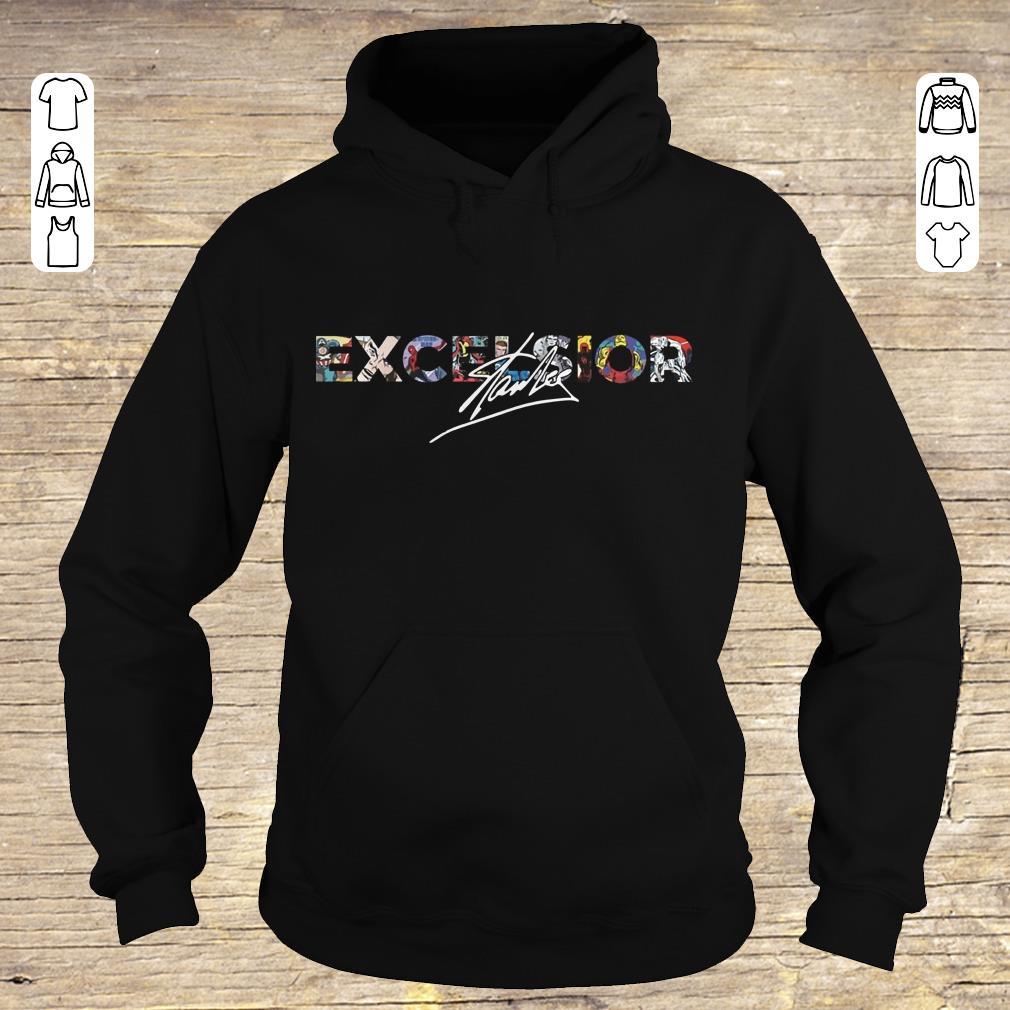 Top Stan Lee Excelsior shirt hoodie Hoodie