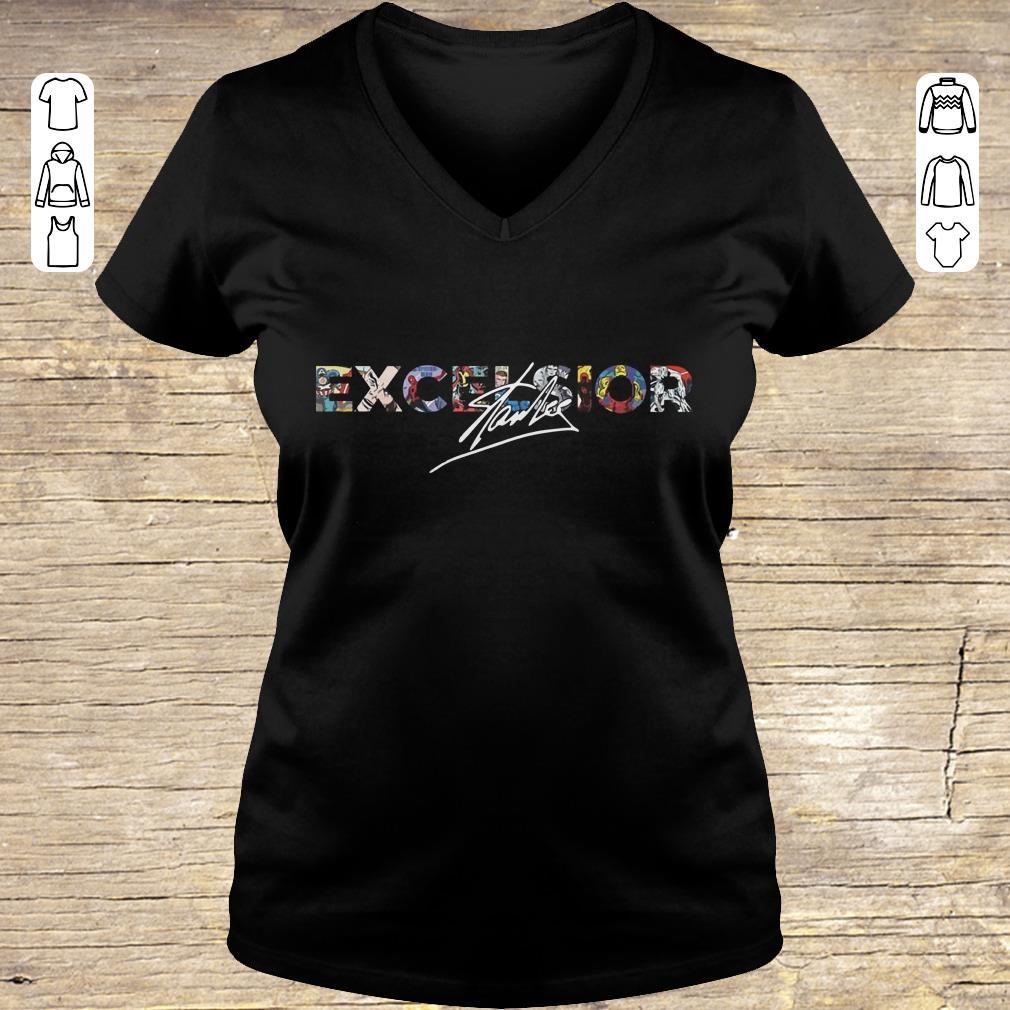 Top Stan Lee Excelsior shirt hoodie Ladies V-Neck