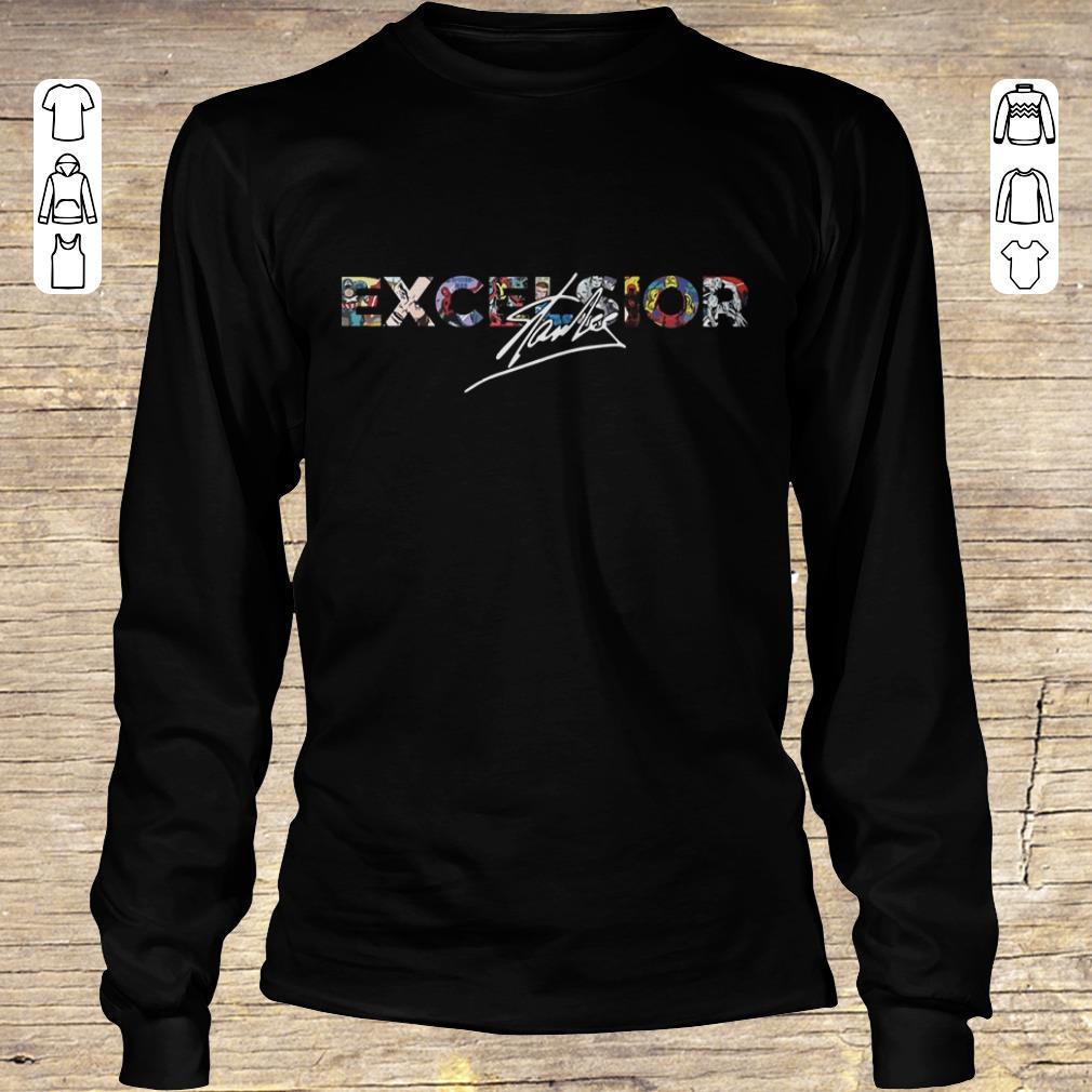 Top Stan Lee Excelsior shirt hoodie Longsleeve Tee Unisex