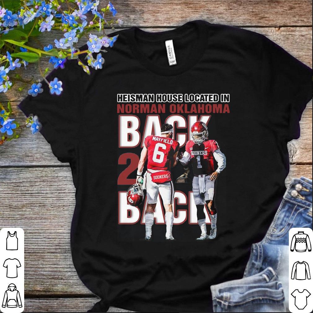 fb13d965562 Baker Mayfield Heisman House Located In Norman Oklahoma Sooner Bred Shirt 1  1.jpg