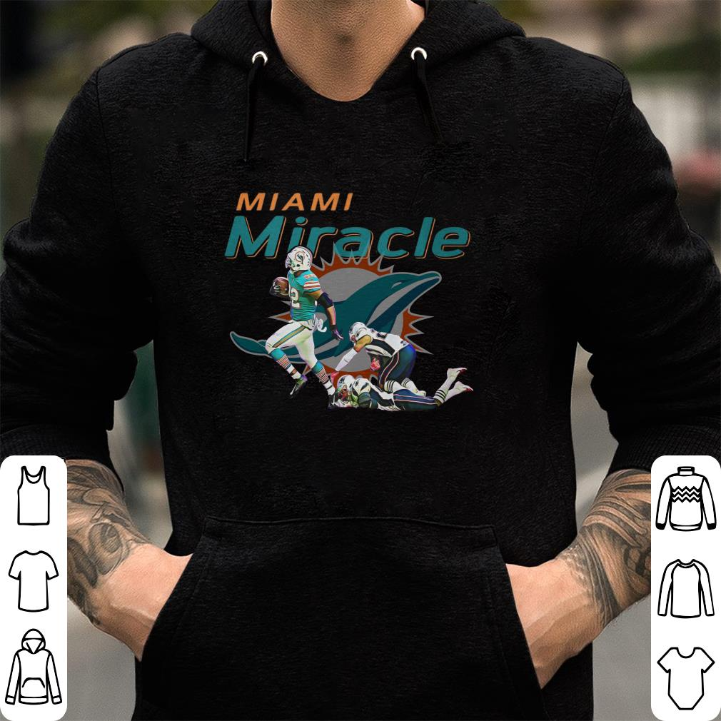 Funny The Miami Miracle  Kenyan Drake Beats The Patriots shirt ... 9f7103019