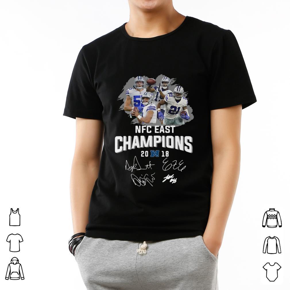 Hot Dallas Cowboys players NFC East champions 2018 signature shirt ... 4b28fee86