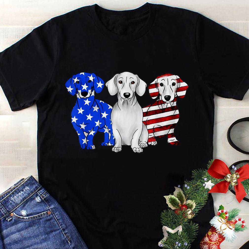 Awesome Dachshund Breed Dog America Flag shirt