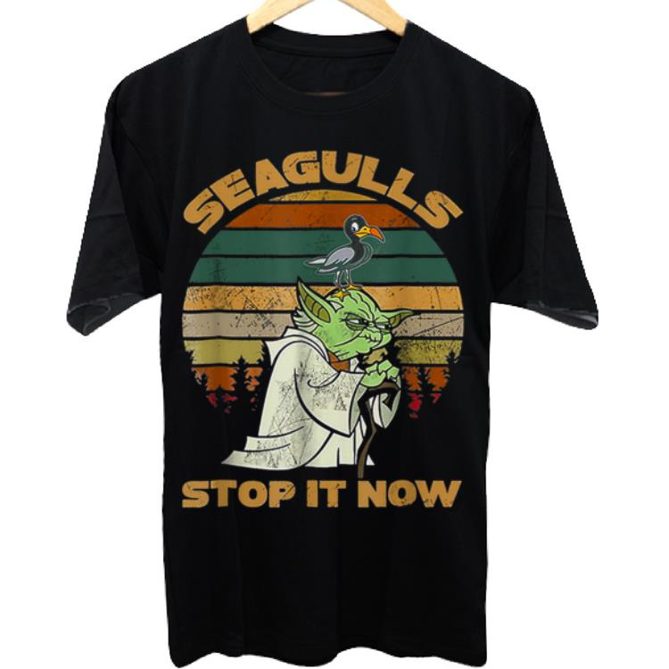 Awesome Seagulls Stop It Now Bird Vintage shirt