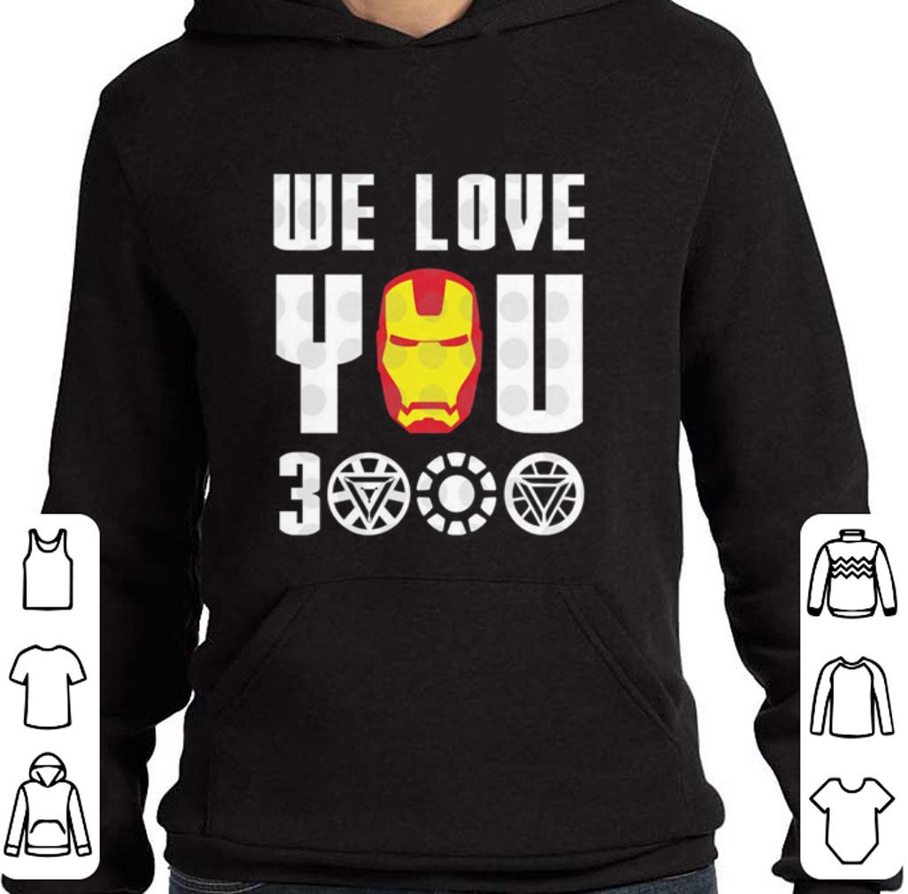 Nice We Love You 3000 Iron Man Marvel Avengers Endgame shirt