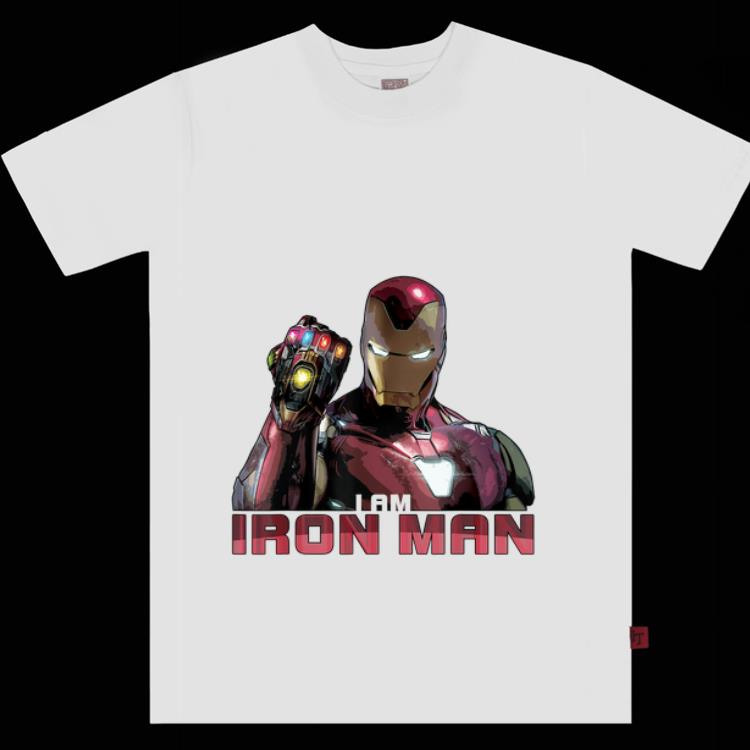 Premium Marvel Avengers Endgame I Am Iron Man Gauntlet Infinity Shirt 1 1.jpg