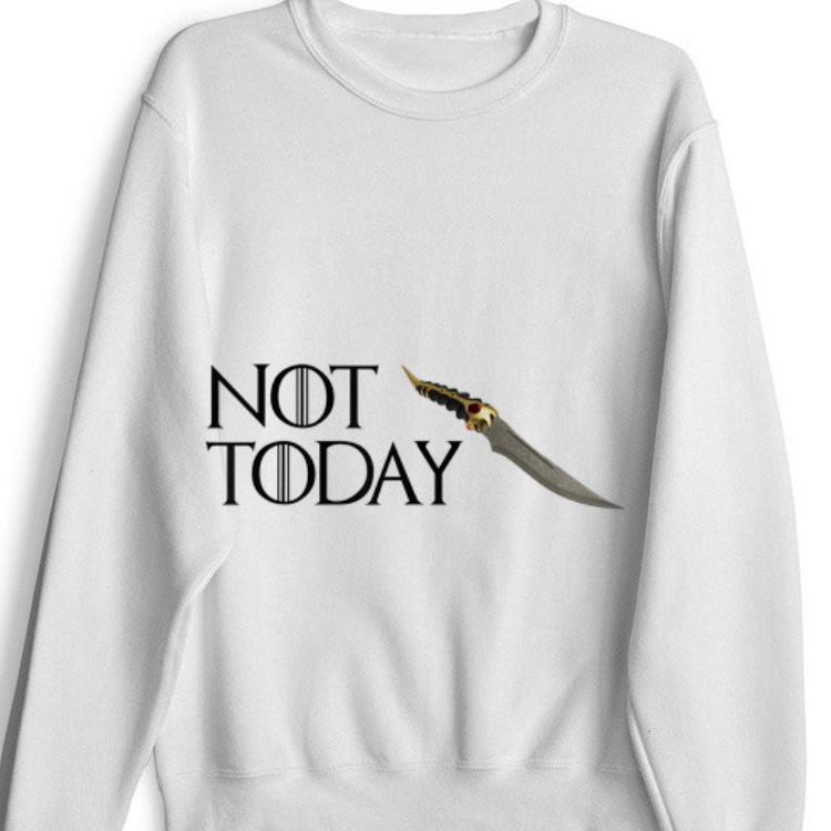 Premium Not today GOT Arya Stark Catspaw Shirt