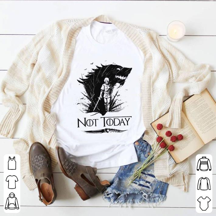 Pretty Arya Stark Catspaw Blade GOT Not today Game Of Thrones shirt