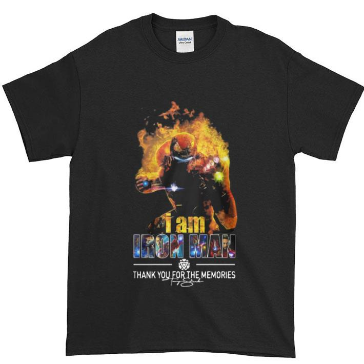 Funny I Am Iron Man Thank You For The Memories Avengers Endgame Shirt 1 1.jpg