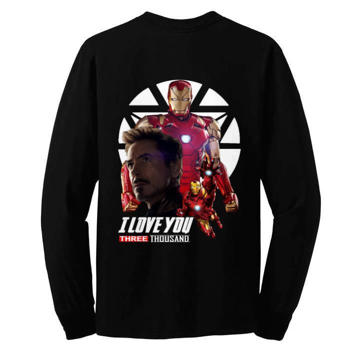 Funny Iron Man I love you three thousand Endgame shirt