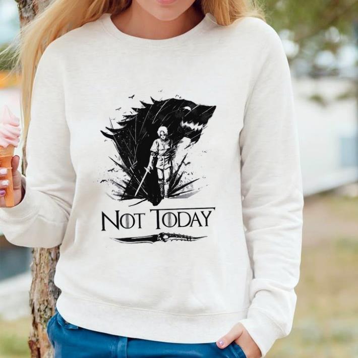 Hot Arya Stark Catspaw Blade GOT Not today Game Of Thrones shirt