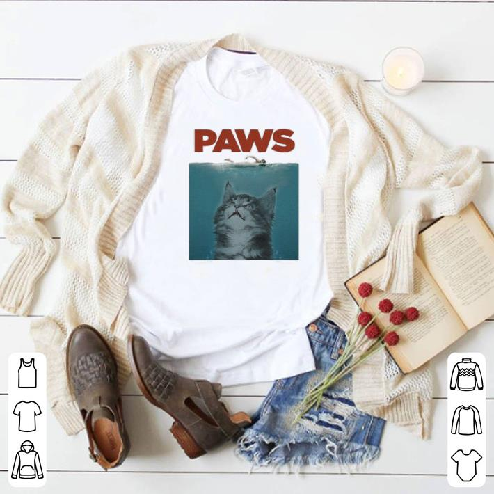 Nice Jaws Paws cat meow shirt
