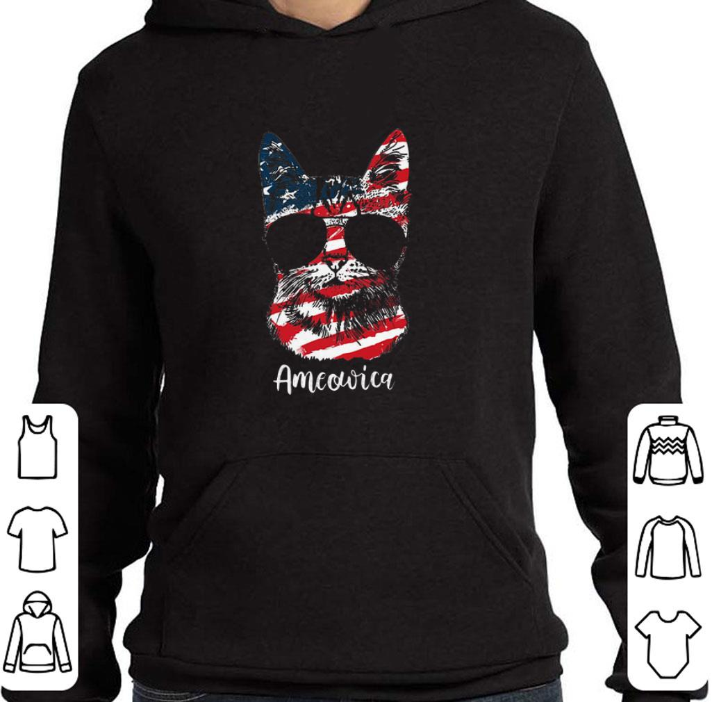 Pretty Cat Ameowica 4th of July Independence Day American flag shirt