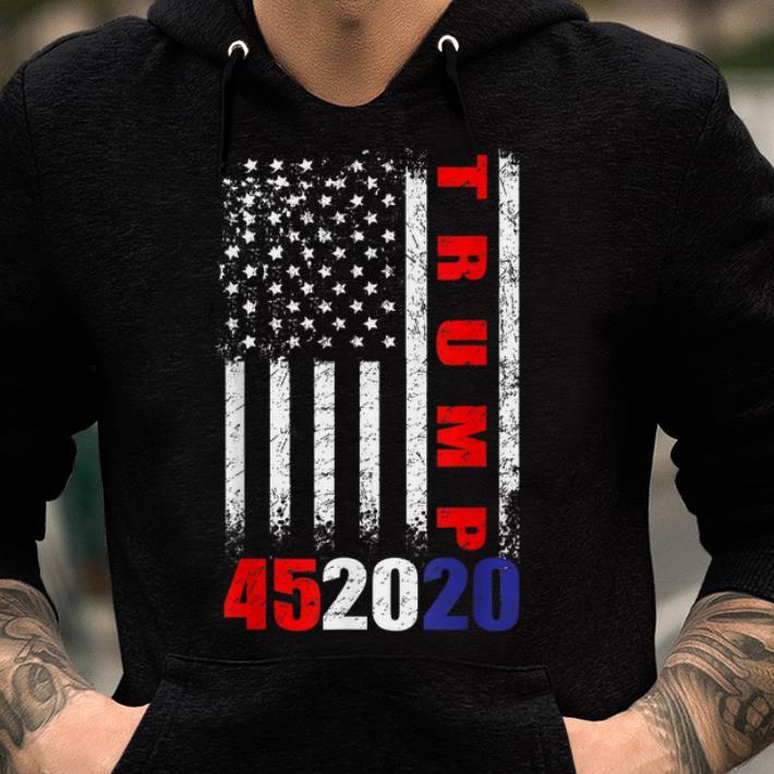 Pretty Trump 452020 American Flag 4th Of July shirt