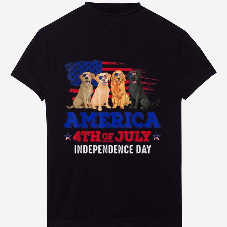 Top 4th Of July Fun American Flag Labrador Dog Lover Gift shirt