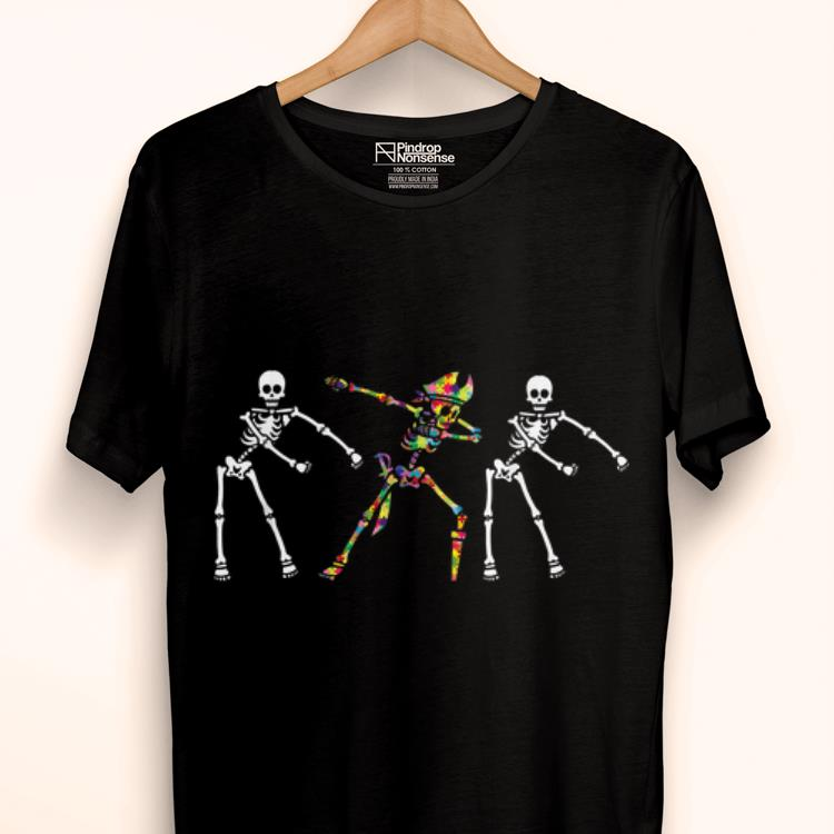Official Autism Skeleton Flossing Dabbing Bone Pirate shirt