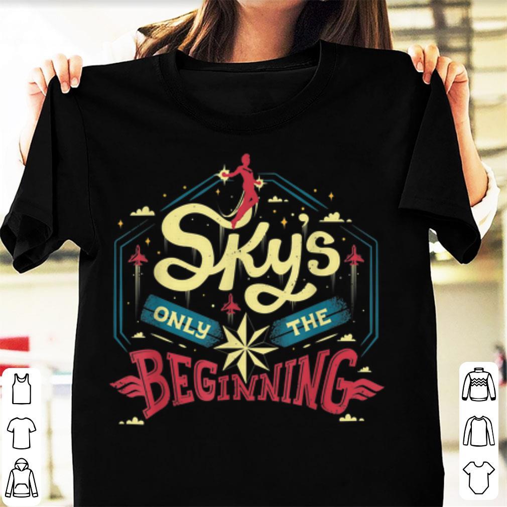 Official Marvel Captain Marvel Skys Only The Beginning Shirt 1 1.jpg