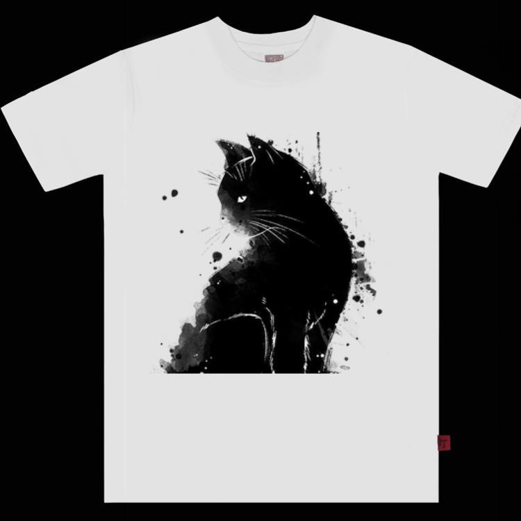 Pretty Inky Cat Black Cat Black As Midnight Sorrow Cat Shirt 1 1.jpg