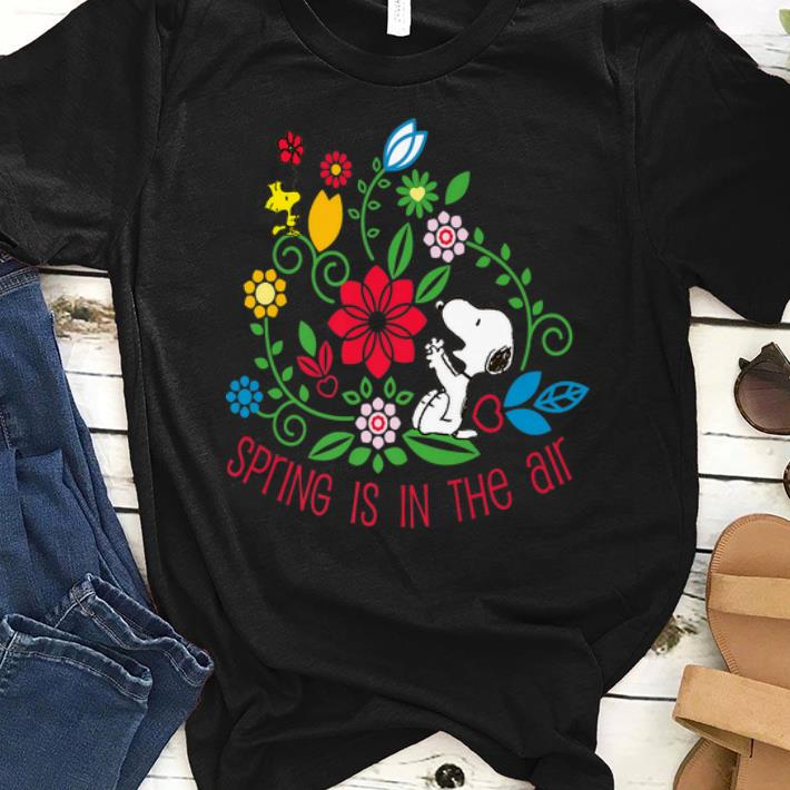 Pretty Spring Is In The Air Peanuts Snoopy And Flower Woodstock shirt