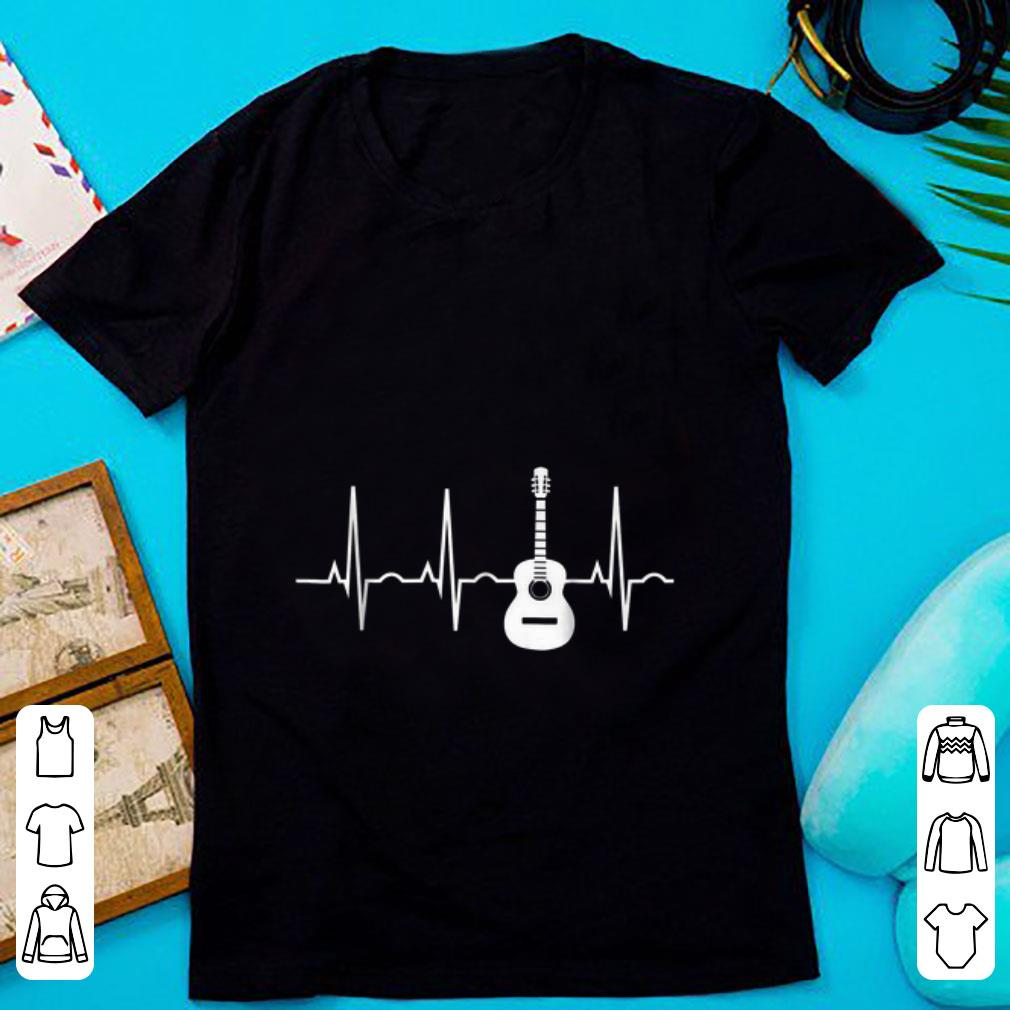 Awesome Acoustic Guitar Heartbeat Musician shirt