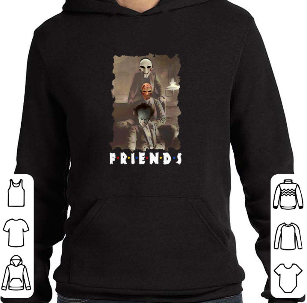 Awesome Friends Horror Movie Jigsaw Freddy Krueger Pennywise Creepy shirt