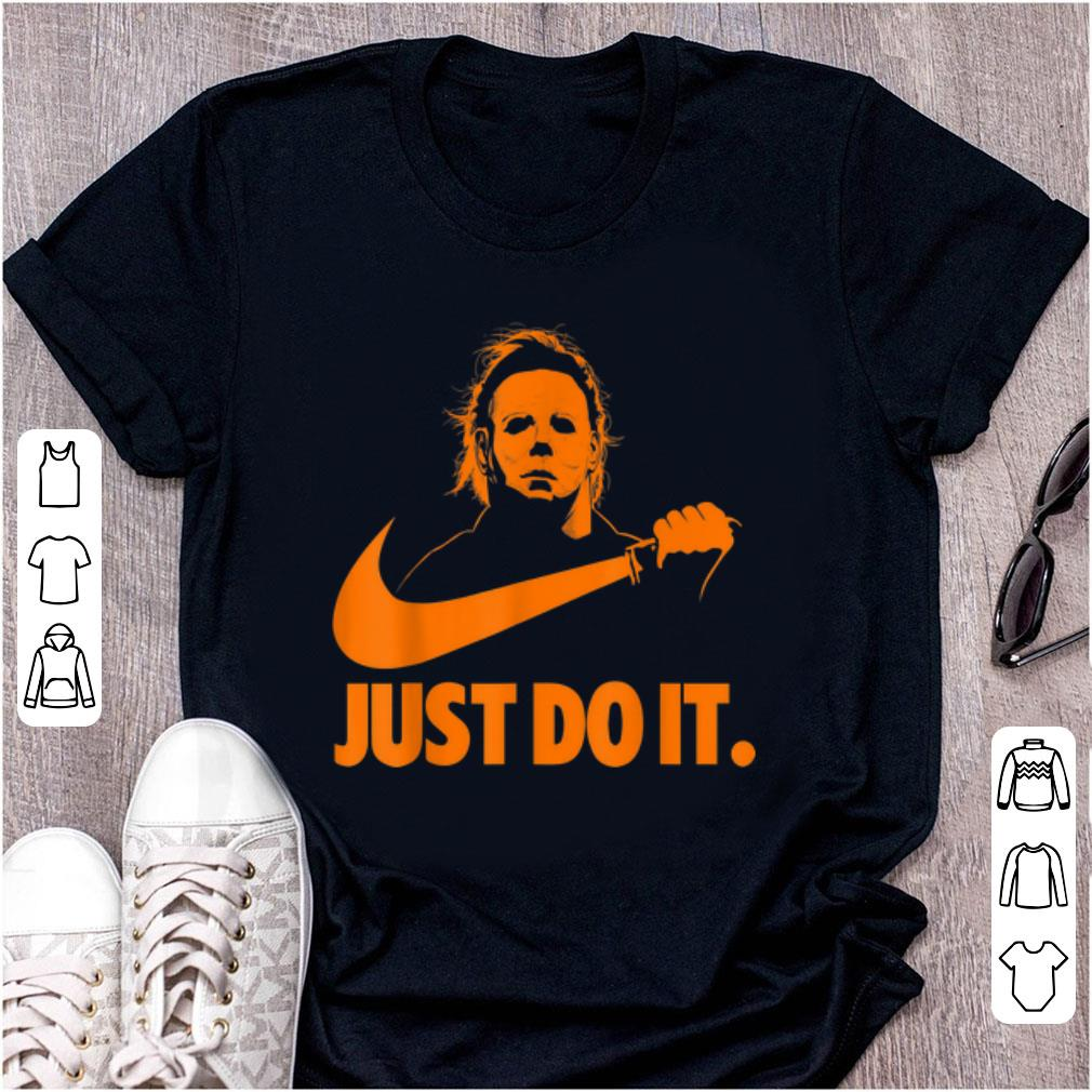 Awesome Michael Myers Just Do It Nike Halloween shirt