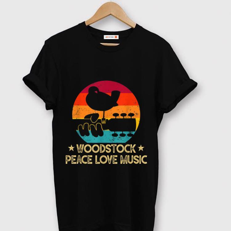 Hot Vintage Woodstocks Peace Love Music shirt