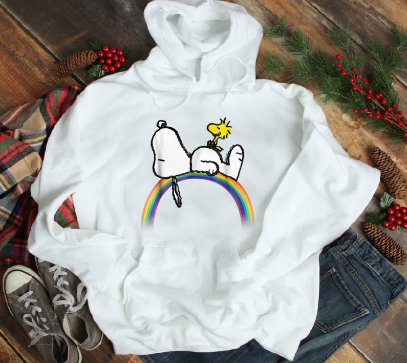 Nice Peanuts Snoopy Woodstock Rainbow