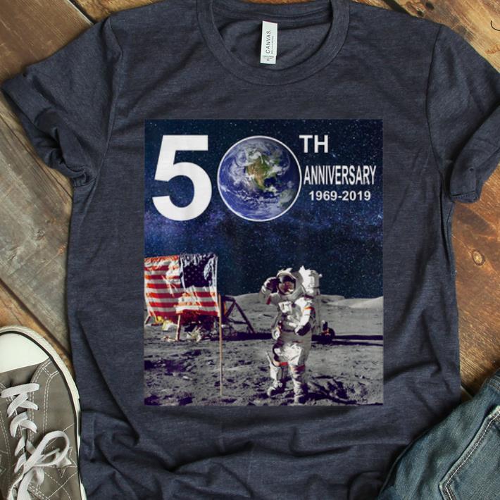 Premium 50th Anniversary Moon Landing Apollo 11 Astronaut American Flag Shirt 1 1.jpg