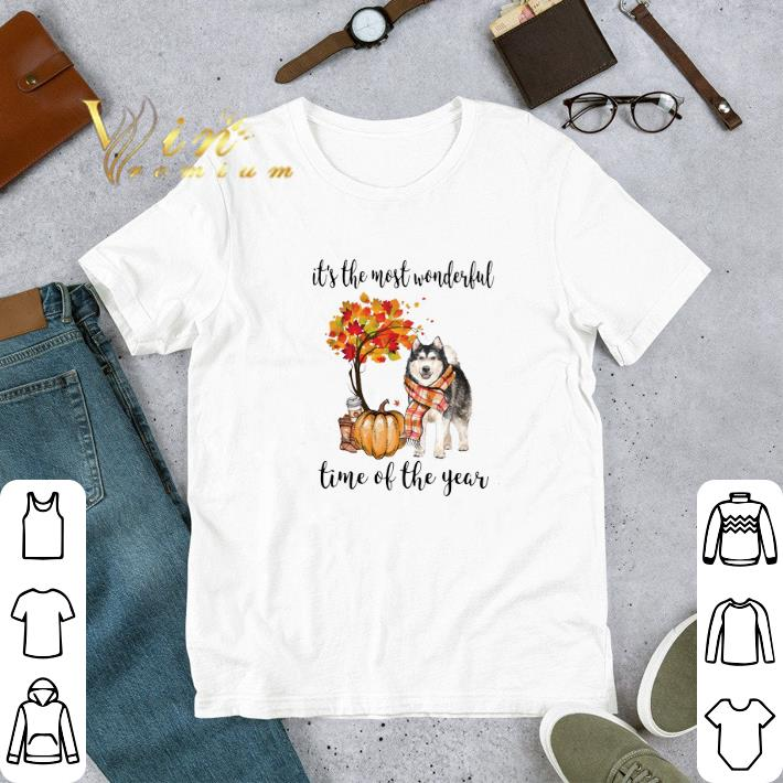 Awesome Alaskan Husky it's the most wonderful time of the year shirt