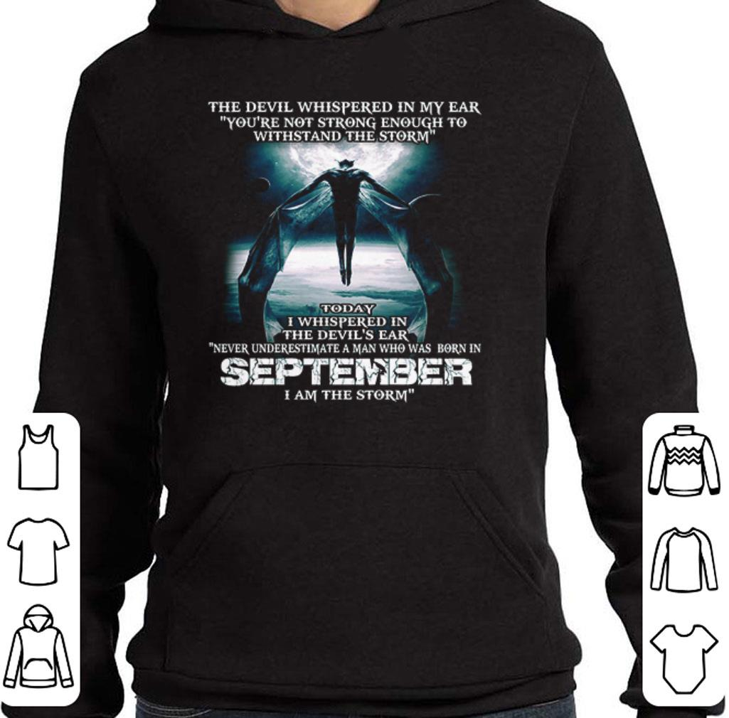 Top The devil's ear never underestimate a man who was born september shirt