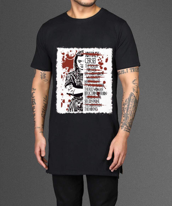 Awesome Arya Stark Kill List Game Of Thrones Shirt 2 1.jpg