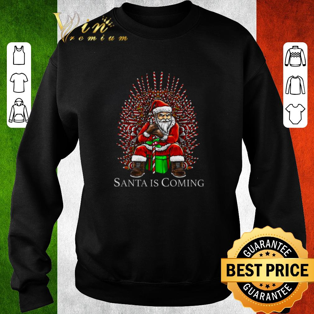 Awesome Santa is coming Game Of Thrones shirt