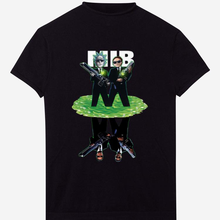 Hot Rick And Morty Mib Reflection Shirt