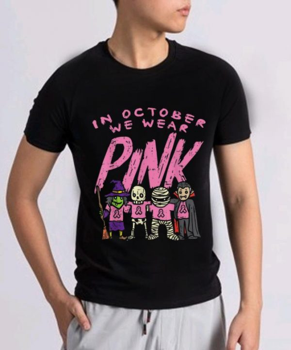 Official Pink Ribbon Witch Skeleton Halloween Breast Cancer Awareness Shirt 2 1.jpg