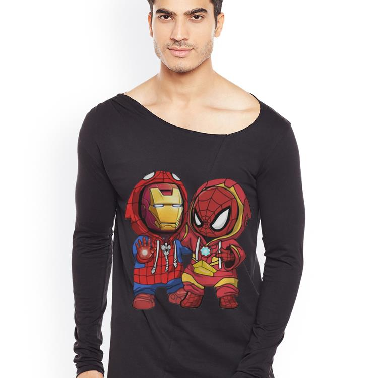Original Baby Iron Man And Spider Man Marvel shirt