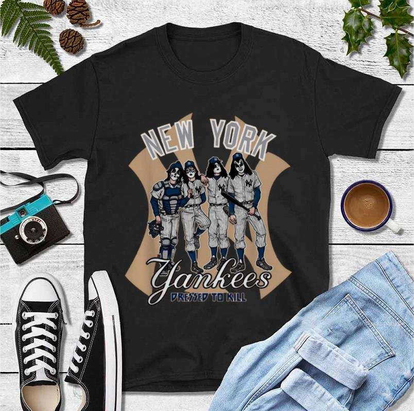 Original KISS New York Yankees Dressed To Kill shirt