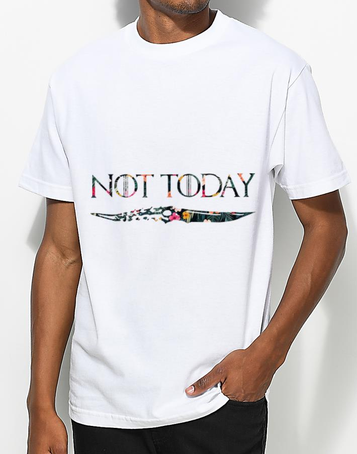 Premium Floral Not Today Arya Stark Game Of Thrones shirt