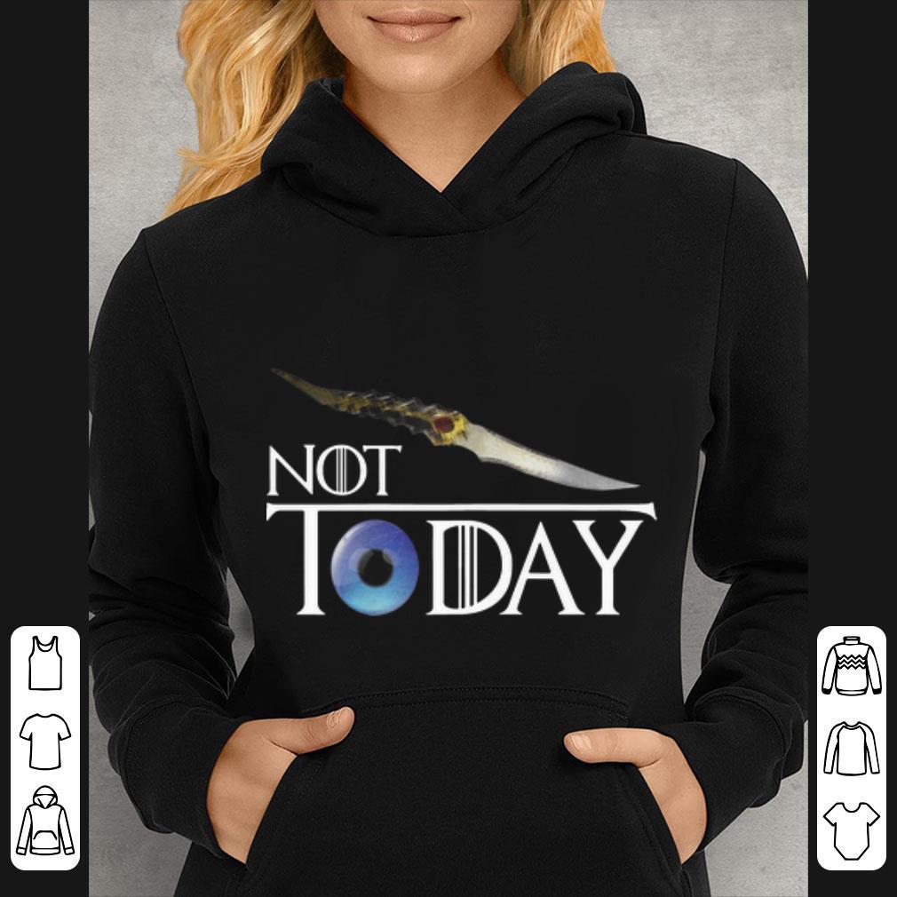 Top Arya Stark Not Today Game Of Thrones Catspaw Blade shirt