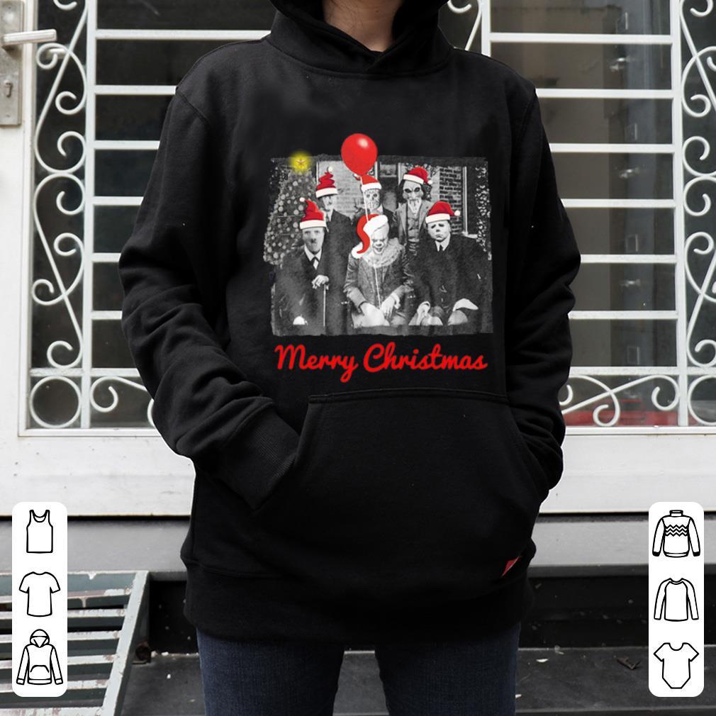 Top Santa Horror Characters Merry Christmas shirt
